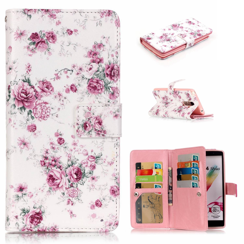 9 Card Holder Wallet Phone Cases For LG K7/ LG K10 Luxury PU Leather Flip Case for LG G4 Stylus Capinhas Celular Ak