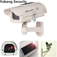 Freeship Solar Power Dummy IR Camera Fake Security Camera Outdoor Waterproof Style