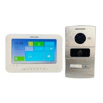 Multi-language Video intercom KIT,IP Doorbell,IP door phone,Hik-Connect,Outdoor camera and Indoor monitor Video Intercom