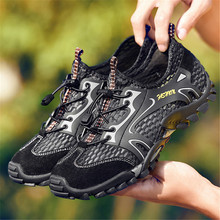 Fashion Comfortable Mens Non-slip Hiking Shoes Mesh Sports Lightweight Breathable Outdoor Casual