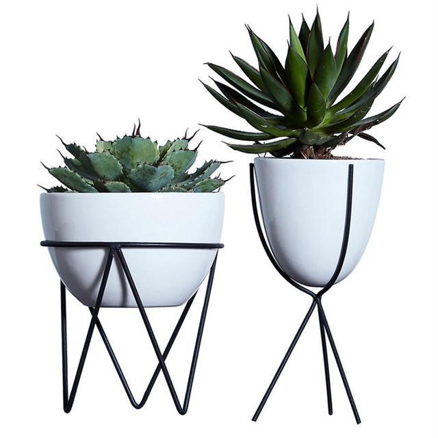 White Ceramic Flower Pot Hydroponic Plants Pot Succulent Plants Pots