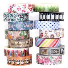 купить 1 roll Cute Lotkawaii Flower food animals Decorative Washi Tape DIY Scrapbooking Masking Tape School Office Supply дешево
