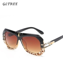 GLTREE Vintage Brand Design Sunglasses Women Metal Sun Glasses Female/Male Goggles Lens Luxury Eyewear Driving Big Frame Shades