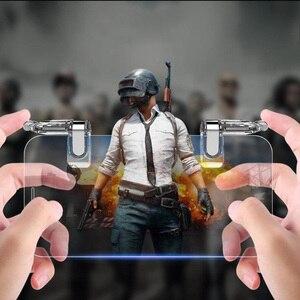 Image 1 - PUBG Mobile l1r1 tirador controlador botón joystick gamepad para teléfono inteligente android para iphone Teléfono universal disparador de juego