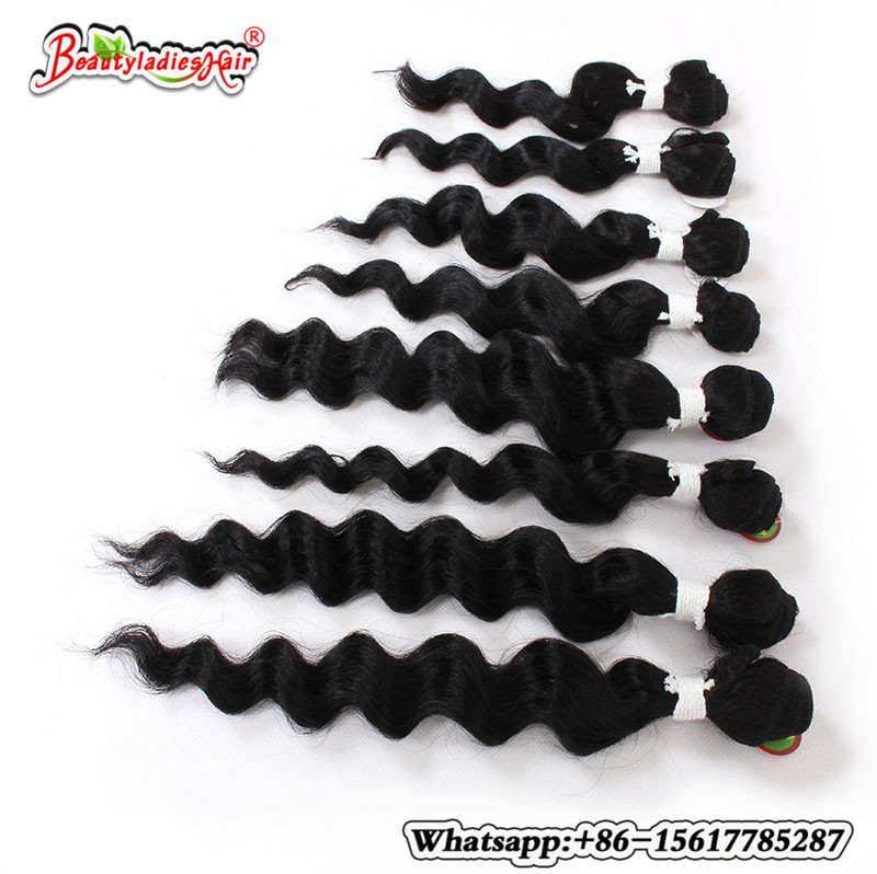 Eunice Hair Products 8Bundle Deep Curly Brazilian Kinky Curly - Syntetiskt hår - Foto 5
