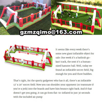 Inflatable Football Field for Kids,Nice Inflatable Game for Family,Air blower Included for sale