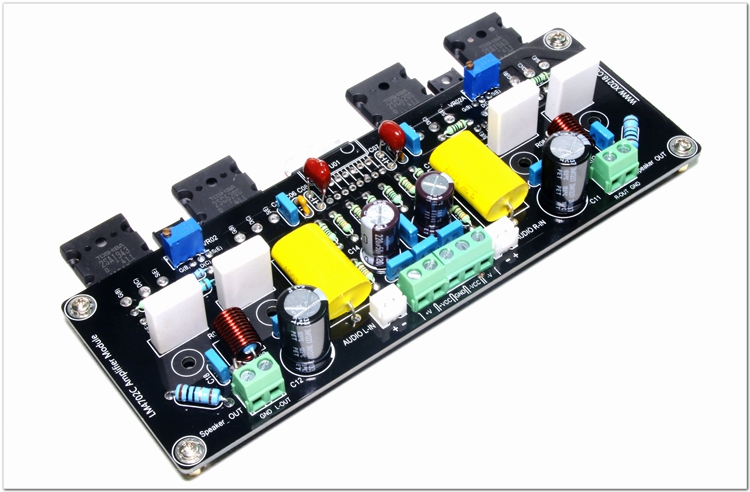1pcs Top quality Double Channels LM4702+2SA1943+2SC5200 Audio power Amplifier AMP Board without Radiator 2sa1943 2sc5200 a1943 c5200
