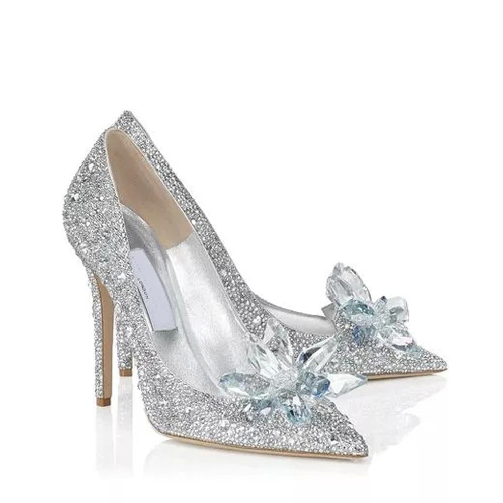 line Shop 2015 HOT SALE Princess Cinderella Crystal Shoes Girls