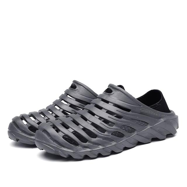 Summer Men Fashion Flats Hollow Out Hole Beach Breathable Sandals light Casual Shoes Soft EVA Injection Comfortable