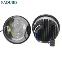 FADUIES black 4.5 inch Motorcycle Led headlight Low&high beam With white DRL For Harley Fat Bob Led headlight