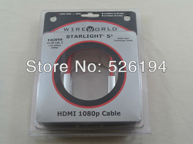 ФОТО Free shipping ONE meter Wireworld Home Theater Starlight 5.2 HDMI to HDMI cable with original box