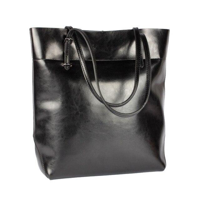 fashion women shoulder bag genuine leather handbag lady larger tote real leather Sacthel Purse Bolsa 2017