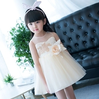 New Luxury Princess Girl Summer Lace Dress 2017 New Children Clothing Luxury Kids Clothes Wedding Party