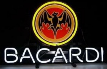 BACARDI Custom Beer Bar Glass Neon Light Sign