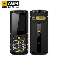 (Support RU Language)AGM M2 2.4 Rugged Phone Dual SIM Rear 0.3MP Outdoor Phone IP68 Waterproof Shockproof Flashlight 1970mAh