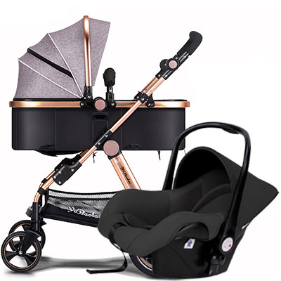 3 in 1 baby folding strollers light baby European Baby Strollers Export Brand Baby Strollers 2 In 1 Carriage 3 With Car Seat original hot mum baby strollers 2 in 1 bb car folding light baby carriage six free gifts send rain cover