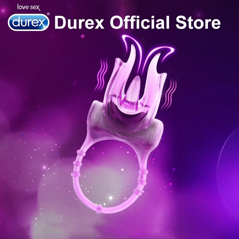Durex вибрирующий петух кольцо ultra своих Эротическое чертенок пениса кольцо петух кольцо для Для мужчин интимные Товары Секс-игрушки для пары секс