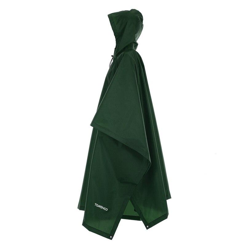 3 в 1 плащ-рюкзак дождевик капюшон для пешего туризма Велоспорт дождевик пончо водонепроницаемый тент для кемпинга коврик для палатки - Цвет: Army  Green.
