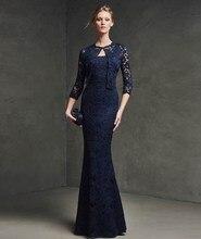 Vestido De Baile Sexy Long Elegant Prom Dresses Fast Shipping Black Open Lace Mermaid 2015 Abendkleider Formal