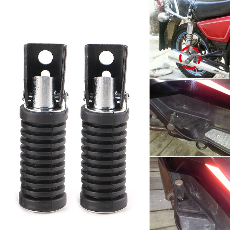 High Quality Motorcycle Rear Footpegs Plate Footrest Rubber Pad Grip Cover For Suzuki 125cc GN 125 Accessory
