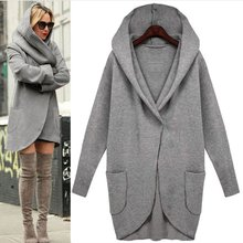 COCKCON Autumn Winter Fashion Harajuku Blends Hoodies Loose Long Sleeve Women Coat Outerwears Pockets Abrigos Mujer