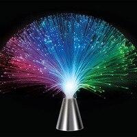 Güzel Romantik Renkli Değiştirme LED Fiber Optik Nightlight Lamba Tatil Parti Ev Düğün Dekorasyon için, babysbreath