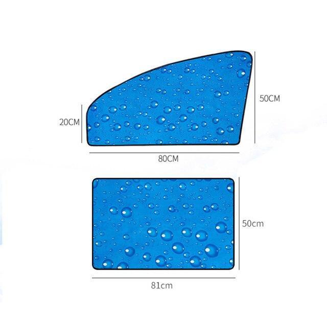 Single-Layer UV Solar Sun Protection Retractable Magnetic Car Curtains Side Visor Summer Sunshade Window Protector Baby 4