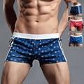 Seta Calças Dos Homens SUPERBODY Cueca Nova Impressão de Algodão Solto Grande Boxer Mens Calções Calzoncillos Hombre Calvin Boxers Cueca Gay