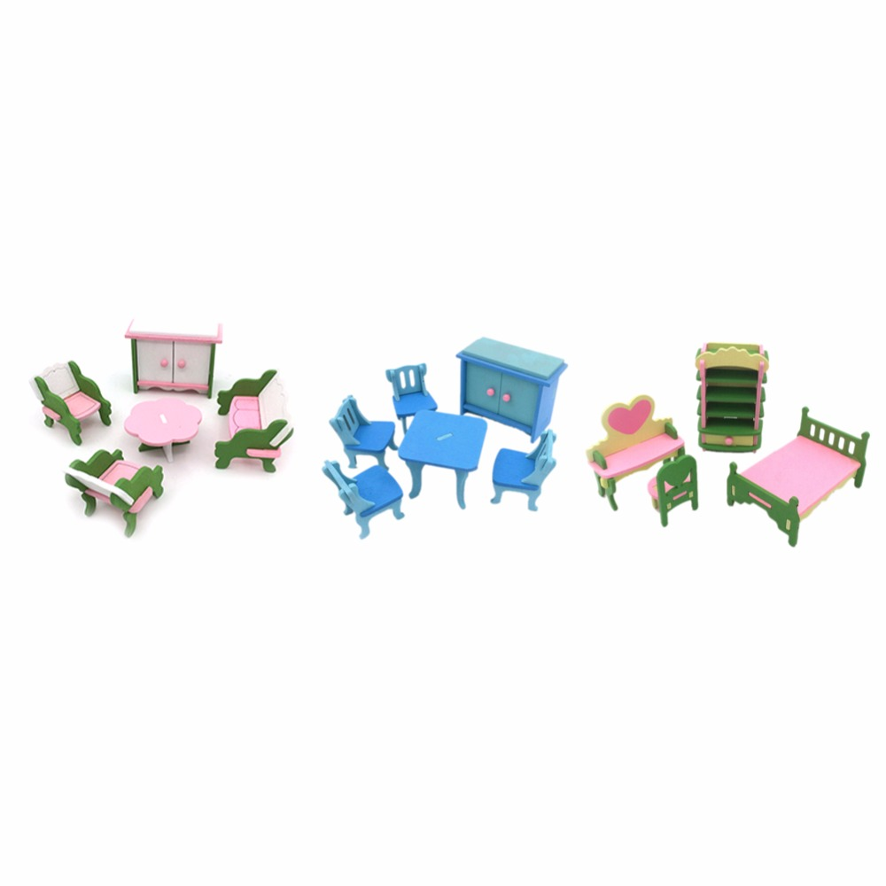 7 Styles Kids Play House Wooden Toy Set Dressing Table Children\'s ...