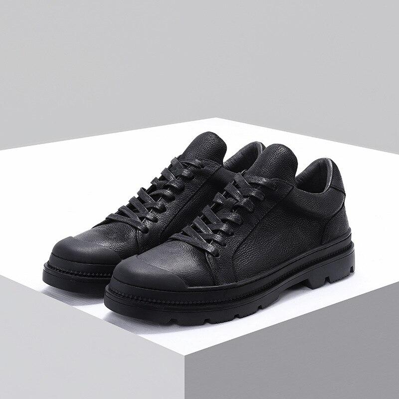 Owen Verano Zapatos De Casuales Planos Hombre Negros Lujo Para Negro Cordones Moda Con Zapatillas Cuero Seak Vaca t7qqprnwdx