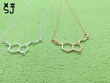 10PCS- N011 Formula Hormone Serotonin Molecule Necklace Chemical Science Molecules Necklace Chemistry 5-HT Necklaces for Nurse