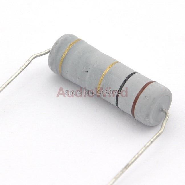 2 watt 5/% metal oxide power resistors 10 ohm 5 pack