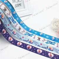 2 5cm High Density Thread With Printed Ribbon Thermal Transfer Cartoon Princess DIY Wedding Celebration Christmas