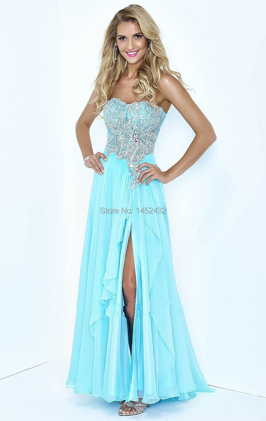 Ice Blue Dress - Qi Dress