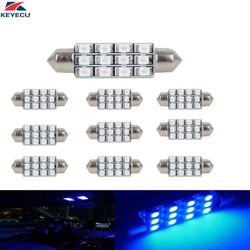 6x Xenon White Dome Map Lamp 42MM 12SMD Festoon LED Bulbs Car Interior light 578