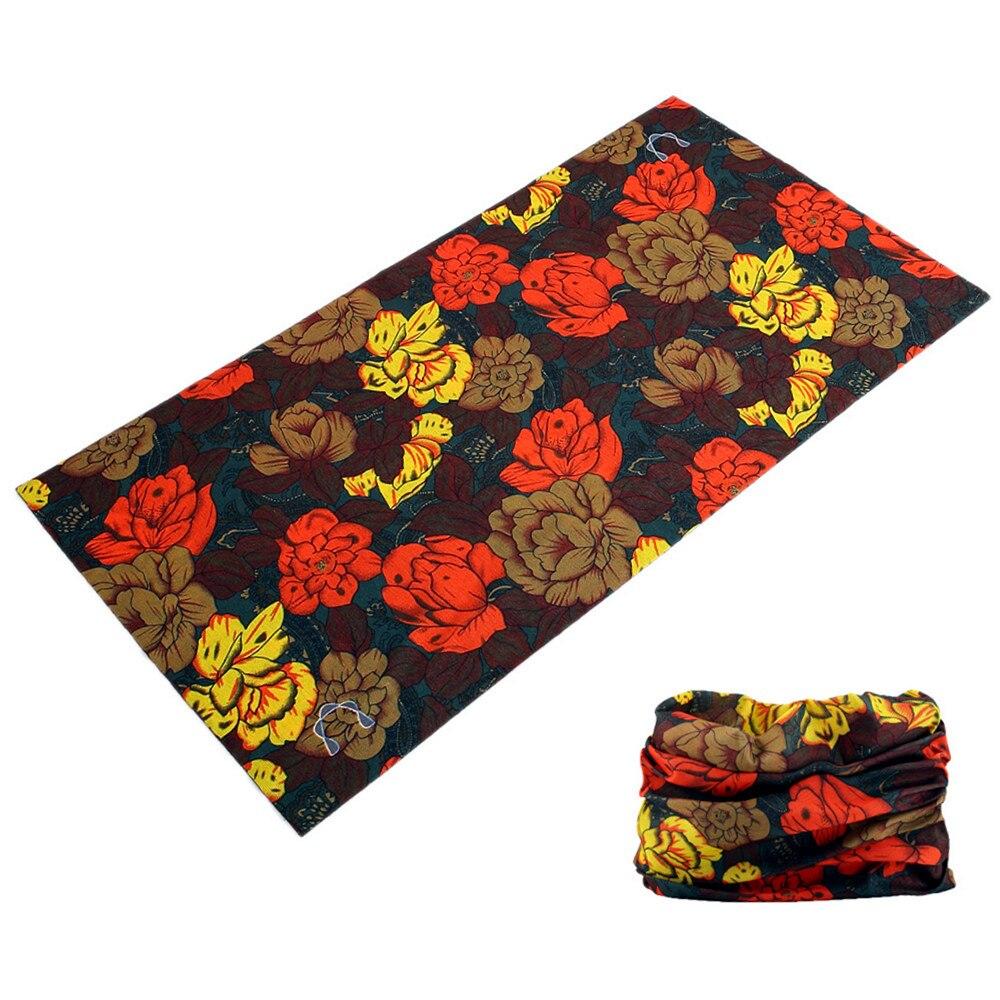Multi Seamless Women Tubular Ring Scarves Outdoor Hiking Female Face Shield Buffe Bandana Floral Elastic Turban Headwear Luxury