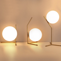 Modern Glass Ball table lamps Gold Nordic Simple Bedroom Bedside Reading Desk Lamp Home Decor LED Table Light Lamparas