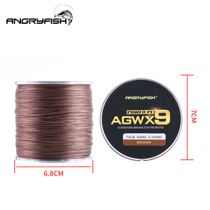 Image 3 - Angryfish 500M 9 Strands Super Multicolor PE Braided Fishing Line Strong Strength Fish Line