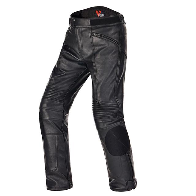 DUHAN Motocicleta motocross racing Protector de equitación Pantalones Deportivos Pantalones a prueba de viento Impermeable caliente de LA PU de Imitación de Cuero