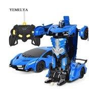 RC Car Sports Car Models Transformation Robots Remote Control Deformation Car RC Robots Kids Toys