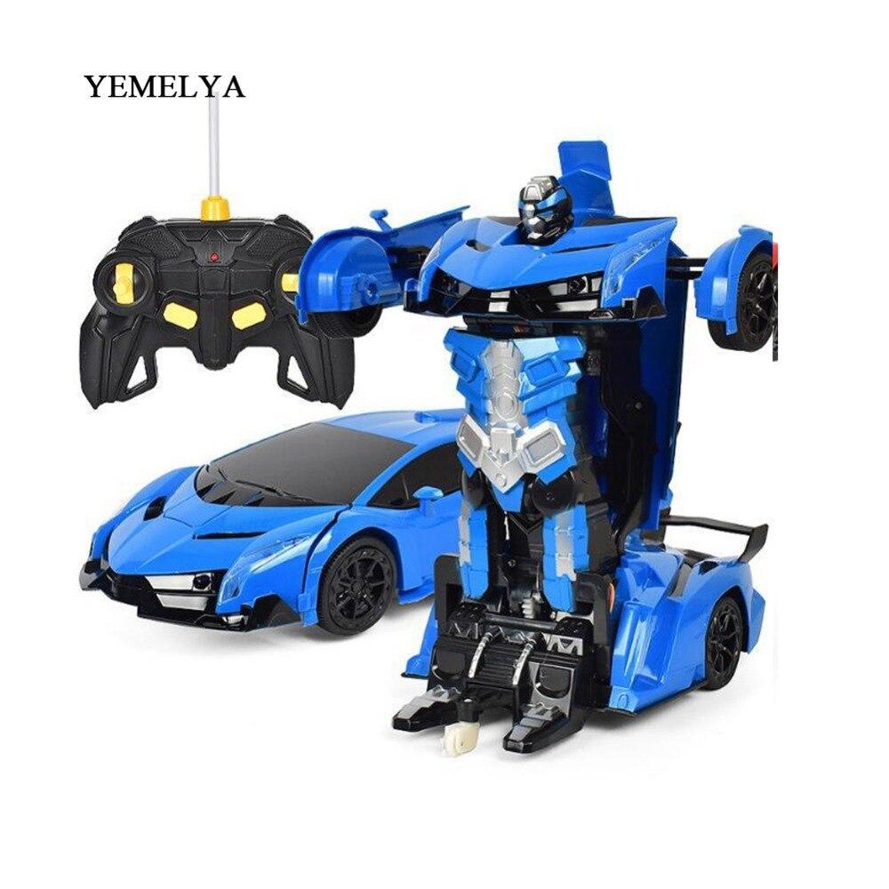 RC Voiture de Sport modèles de voitures Robots transformables télécommande Déformation De Voiture RC Robots jouets pour enfants