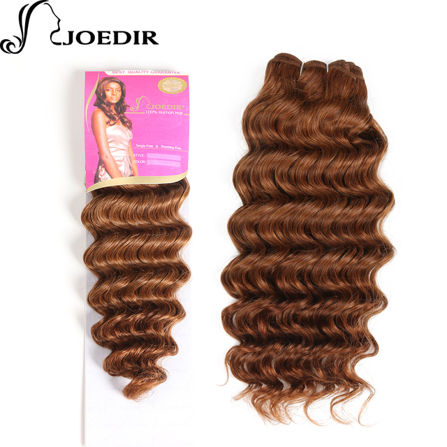 Aliexpress Buy Joedir Pre Colored Medium Brown Deep Wave Human