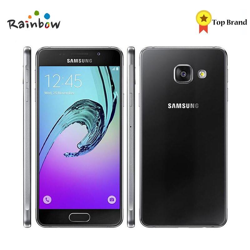 D'origine Samsung Galaxy A3 2016 Sim simple 4.7 2300 mah 1.5 gb RAM 16 gb ROM 13MP 4g LTE Android Smartphone