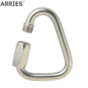Carabiner Hook Outdoor 304-Stainless-Steel Camping Keychain Climbing-Gear Kettle-Buckle