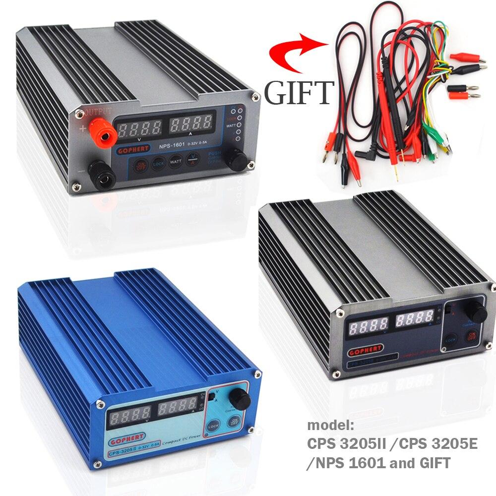 CPS 3205II 3205 Mini interrupteur numérique réglable alimentation cc NPS 1601 WATT avec fonction de verrouillage 0.001A 0.01V 32V 30V 5A