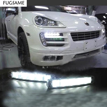 10w LED daytime running light DRL car fog lights headlamp 12v  universal new dimming style relay waterproof 12v led car light drl daytime running lights with fog lamp hole for mitsubishi asx 2013 2014