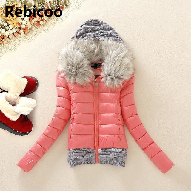 New Arrivals  Winter Jacket Women Fashion Slim Big Fur Collar Warmth Outdoor Casual  Coat Warm
