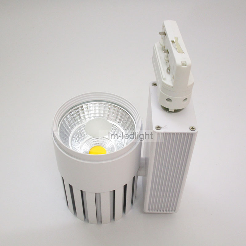 4 wire 3 phase 20W COB spot light track 30pcs led wall light Bridgelux warm/ day/pure white display jewelry store free shipping