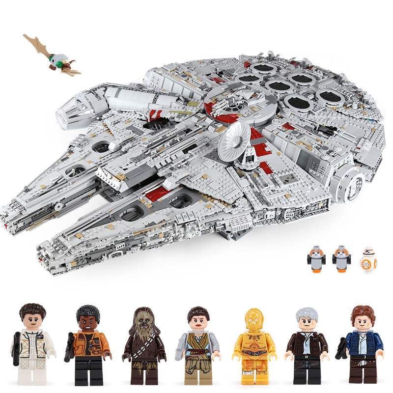 In Stock 05132 8445Pcs Ultimate Collector's Destroyer Star Wars Millennium Falcon Building Blocks Compatible Legoings Star War