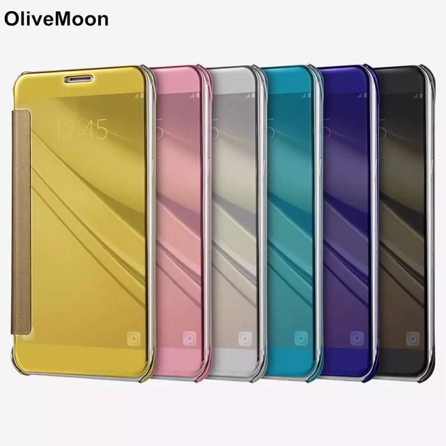 quality design df3e6 ffd59 US $4.16 |Flip Case For Samsung Galaxy C9 Pro C9000 Mirror Phone Back Cover  Luxury Smart Phone Cover For Samsung C9 Pro With 6 Colors-in Flip Cases ...